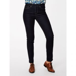 "T-18WWB3941 ""Martha"" Straight Leg Organic Denim Jeans Woman THOUGHT ®"