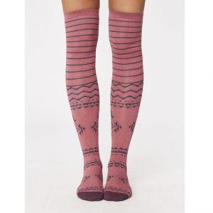 "T-18SPW254 ""Bo"" Long Socks Woman THOUGHT ®"