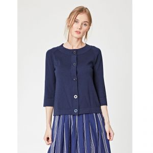 """T-18WST3489 """"Auden Essential"""" Knit Cardigan Woman THOUGHT ®"""