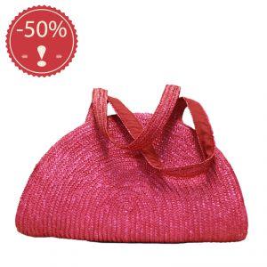 Sea Straw Halfmoon Bag HANDMADE  (*)