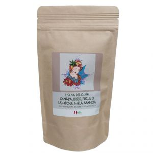 Heart  Infusion Indaku - Hemp, Hibiscus, Raspberry, Apple, Orange 40g - HEMPATICA
