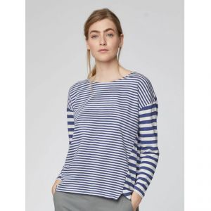 "T-19WST4002 ""Stripey"" Organic Cotton Striped Top Woman THOUGHT ®"