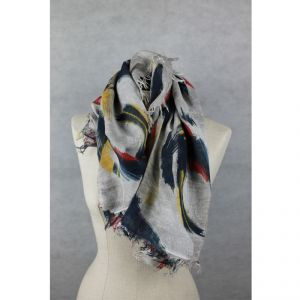 Foulard 'Painters' 100% bamboo HANDMADE Made in Italy