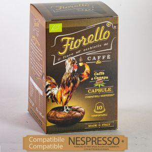 Caffe e Canapa FIORELLO Caffe ® Bio - Capsules Nespresso* compatible 10 pcs ground coffee & hemp 75g
