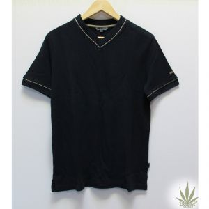 HV04TS983 T-shirt collo a V in piquet a manica corta Uomo HEMP VALLEY ®