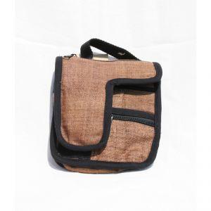 Hemp Small adjustable Shoulder Bag Unisex HANDMADE