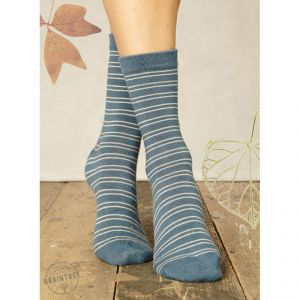 "BT14LS61  ""Brambling Stripe"" Socks Woman BRAINTREE ®"