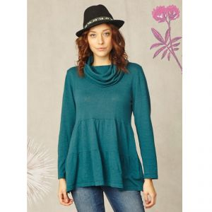 "BT14WWT2061 ""Eris"" Cowl Neck Knitted Tunic Woman BRAINTREE ®"