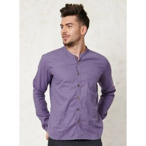 "BT15MST2271 Camicia coreana con colletto ""Essential Granpa"" Uomo BRAINTREE ®"