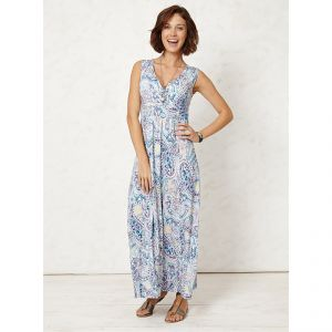 "BT15WSD2205  ""Avani Blu Printed Maxi"" Dress Woman BRAINTREE ®"