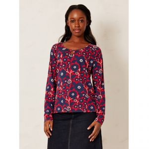 "BT15WWT2393 Top ""Akala Bay Floral"" Donna BRAINTREE ®"