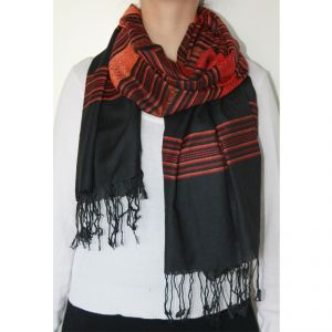 Scottish Scarf #2 100% Silk Unisex HANDMADE